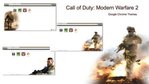 Call of Duty MW2 Chrome Themes by iDR3AM