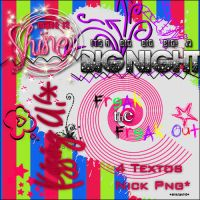 Nick Text Png Pack by DivasWorld