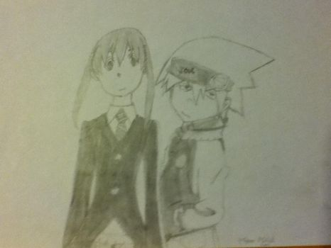 Soul and Maka by trainsgirl13