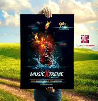 Music Xtreme Sensations Flyer by Minkki2fly