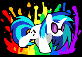 Vinyl Scratch Splash Speaker Design by drawponies