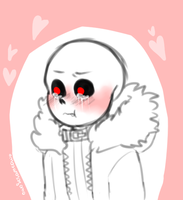 Cute UF sans crying by owoSesameowo