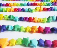 200 stars - Rainbow Garland by FrozenNote