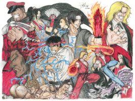 Street Fighter X The King of Fighters by DHK88