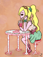 Lacey The Ribbon Princess (Tumblr Ask Blog Oc) by EuchredEuthanasia