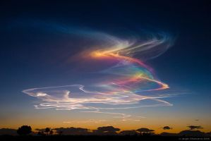 Iridescent Sky by angelvillanueva