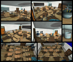 Emily Silverspark's Practice Hall  classroom. by FlyingGinger