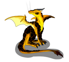 Magma Dragon Adopt - SOLD by ShadowInkAdopts