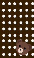 Brown from LINE wallpaper by Geckoedition1
