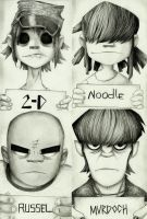 Gorillaz by earth-angel13