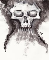 Ink skull by E-Dowely