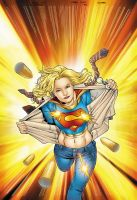 Unused Supergirl cover by ColorDojo
