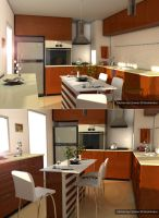kitchen by Cinema 4D by ibrahim-ksa