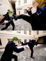 Roronoa Zoro and Sanji by AmethystPrince