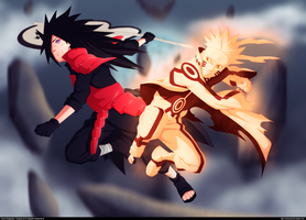Battle! Madara Vs Naruto by ZeroooArt