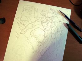 Commish 97 WIP 02 by RobDuenas