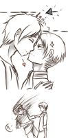 SNK - Too damn tall (ereri) by magickitt