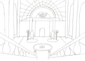 Entrance to The Temple of Time by CelticDragonQueen