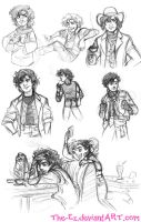 Gangfield Various Eras Sketches - July 2013 by The-Ez