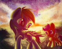 Rd And Scootaloo by JIAMIAN