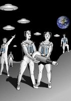 Cybermen on the Moon by MikeMcelwee