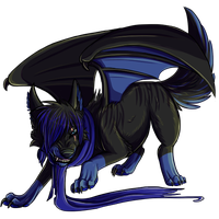 Black and Blue Overlay by FateHound