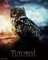 owl with helm poster by T3hSpoon