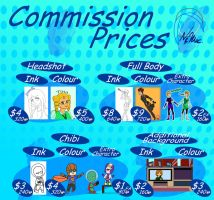 Commission Price Sheet 2013 by TMNT-Raph-fan