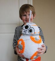 Life-Sized BB-8 with Free Pattern Link! by dsgngrl