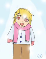 Young Riza in the Snow by DriftingVeedragon