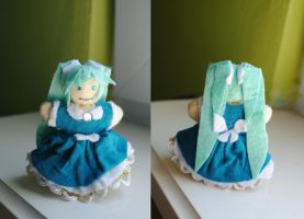 Daughter of green - Miku Hatsune mini plushie by martek97