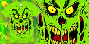 THE GRINCH ZOMBIE TEE by mrchugchug