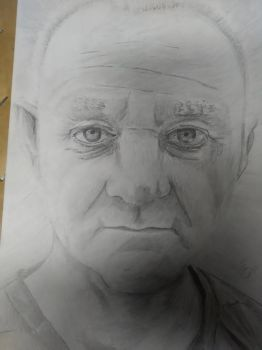 Drawing of a co-worker by sivios