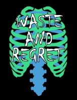 Waste and Regret Shirt Ribcage by MichaelKnouff