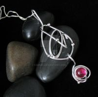 Ruby and Onyx Pendant by camias
