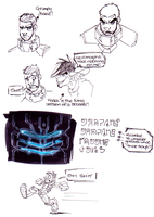 Dead Space Isaac Doodles by Hades-O-Bannon