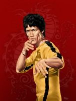 Bruce Lee by Nerkin