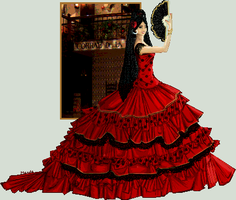 Flamenco Dancer by edgedolls