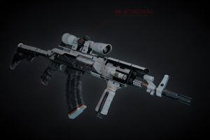 AK47 Tactical (custom white paint) by cuber