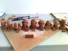 Team Fortress 2 Busts of Mud by Phovos-the-Raptor