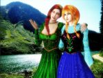 Crossover - Fiona and Anna - Red Headed Beauties by DeathsFugitive