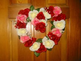 Rose Heart Wreath by magenta-stock