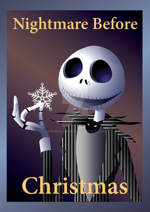 Nightmare Before Christmas - poster design by Anomaliana