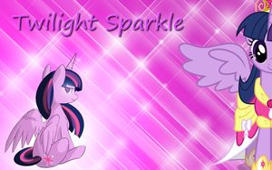Alicorn Twilight Sparkle Wallpaper by Thoron95