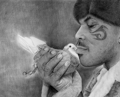 Mike Tyson and the dove by Daricelli