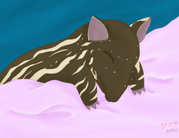 Hiems: Sleepy Tapir by Getsuei-san