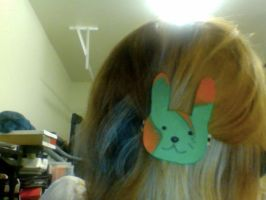 Psychadelic Bunny Hair Clip by HieisQueen07