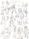 Undertale AU Doodles by DarkPheonixtma