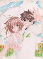 Sakura And Syaoran by Moonlightland