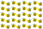 bee pattern by lucicouto